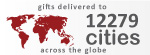 Gifts delivered to 12279 cities across the globe